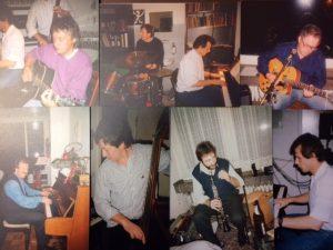 Bei unseren Jazztreffen in Marburg, Herne und Duisburg (Hamborn-Marxloh) nahmen auch Bertram Schwiertzund Eugen Endres von der Bonner Band teil. Winni vertritt mich am Schlagzeug.